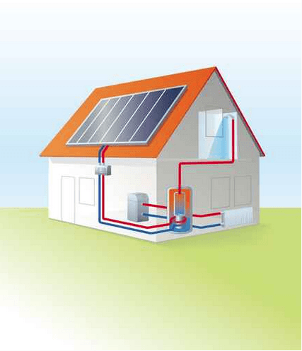 solar thermal - schematic diagram
